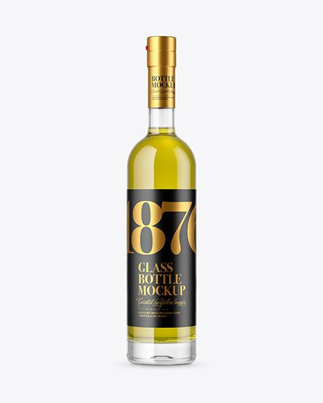 Download Clear Glass Olive Oil Bottle PSD Mockup