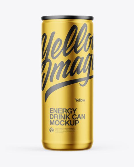 Download Matte Metallic Can PSD Mockup