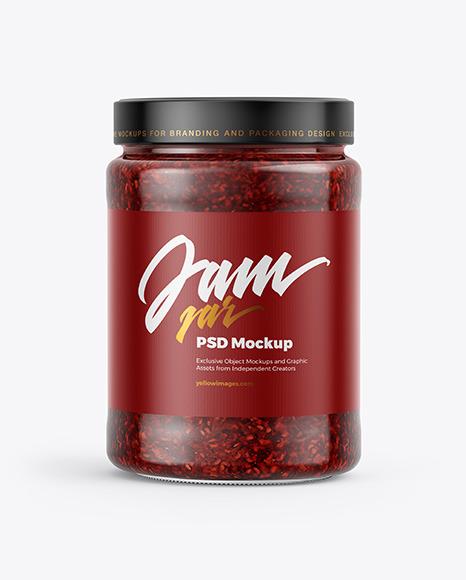 Download Raspberry Jam Jar PSD Mockup