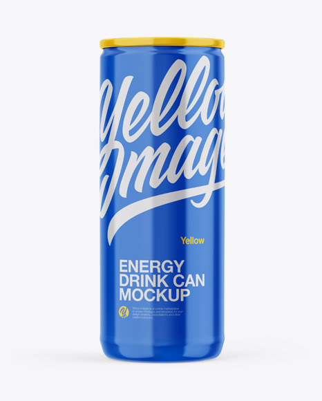 Download Glossy Can PSD Mockup