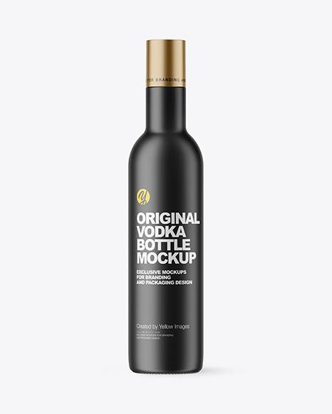 Download Matte Vodka Bottle PSD Mockup