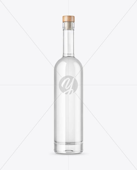 Clear Glass Vodka Bottle Mockup