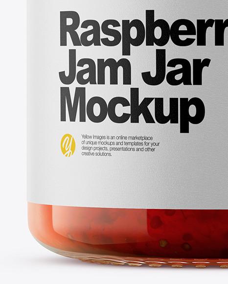 Download Raspberry Jam Jar Mockup In Jar Mockups On Yellow Images Object Mockups PSD Mockup Templates