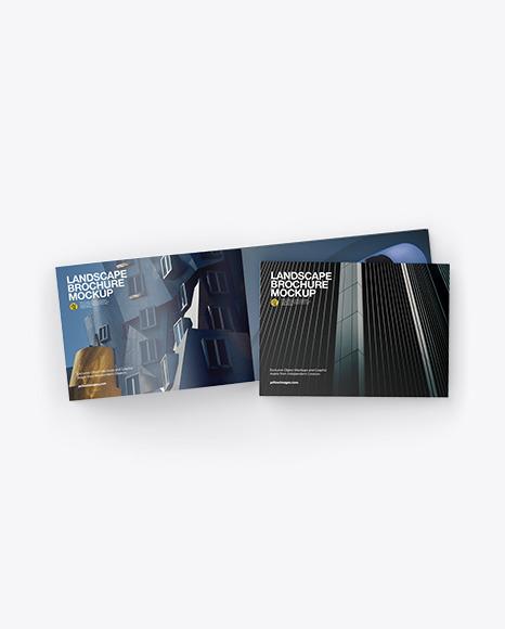 Download Two Landscape Brochures PSD Mockup