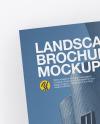 Two Landscape Brochures Mockup