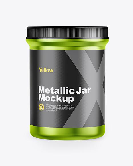 Download Metallic Jar PSD Mockup