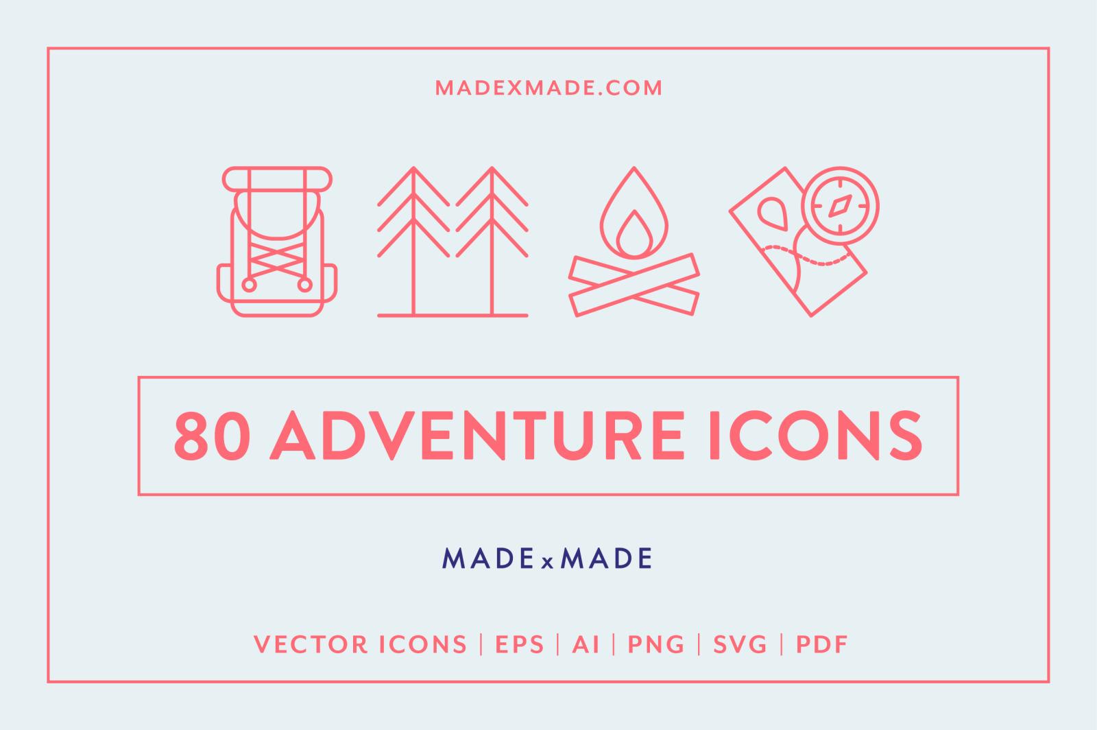 Line Icons – Adventure