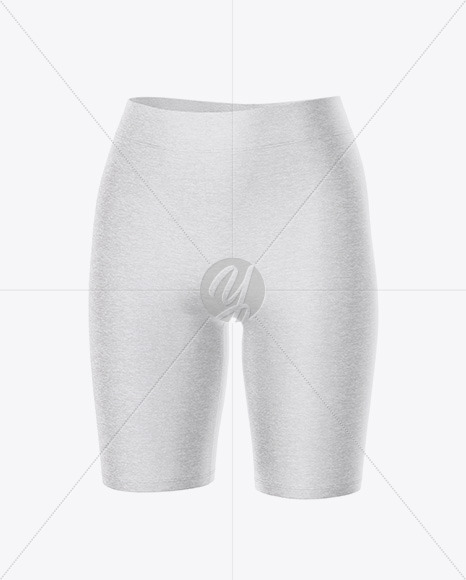 Melange Women's Shorts - Front Half Side View