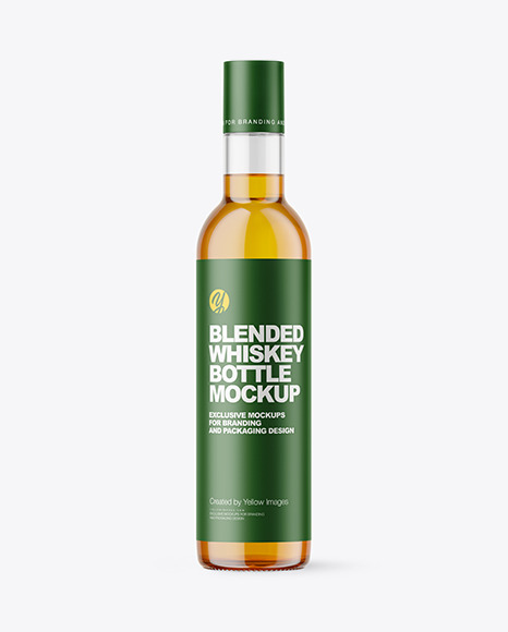 Download Clear Glass Whisky Bottle PSD Mockup