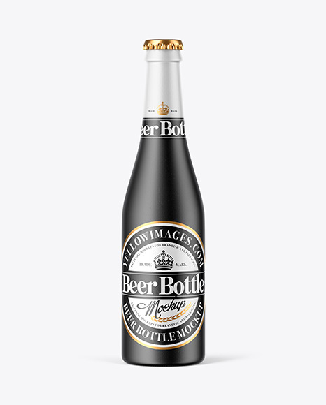 Download Ceramic Beer Bottle PSD Mockup