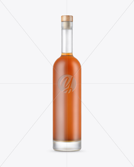Frosted Glass Cognac Bottle Mockup