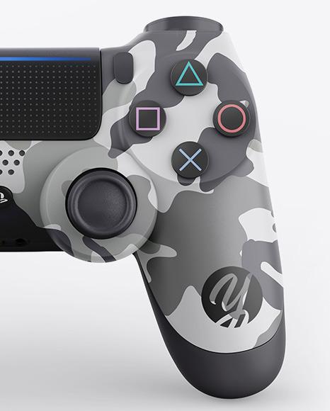 Glossy DualShock 4 Controller Mockup