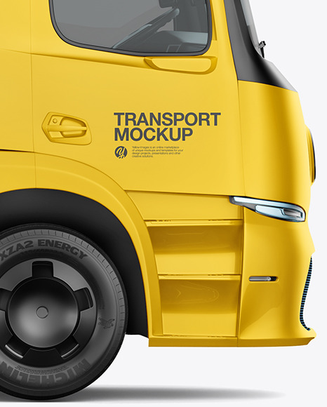Electric Truck Mockup - Right Side View