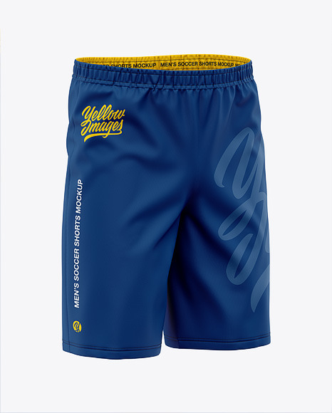 Download Mens Woven Shorts Front HalfSide View PSD Mockup