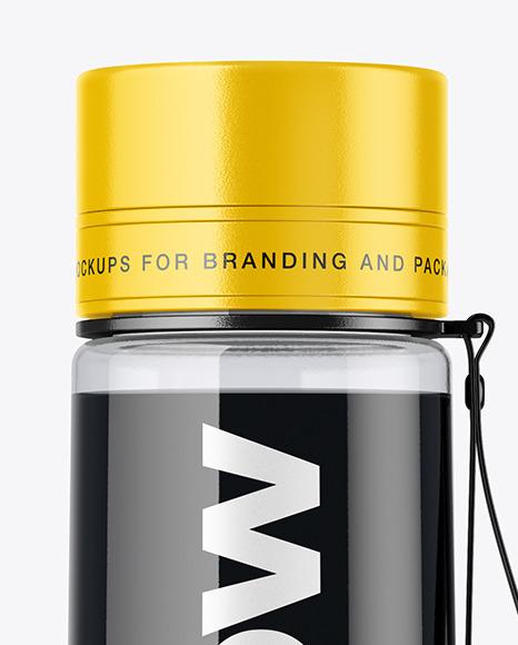 Sport Bottle With Black Water Mockup In Bottle Mockups On Yellow