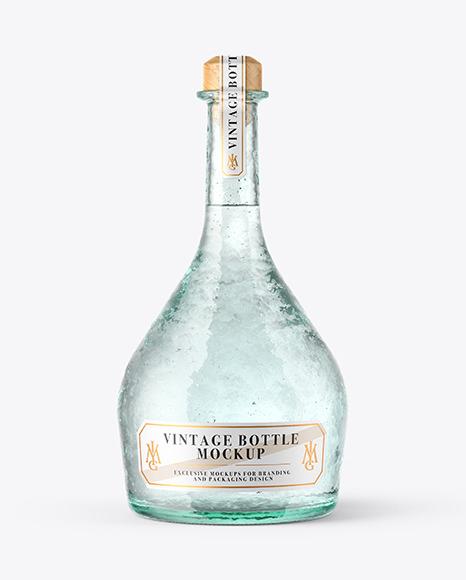 Download Clear Antique Bottle PSD Mockup