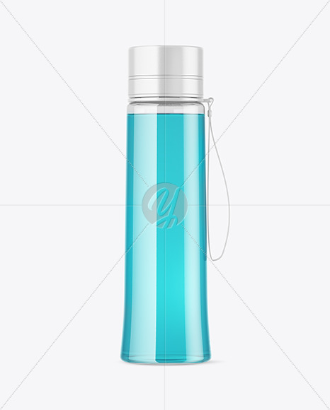 Clear Drink Sport Bottle Mockup