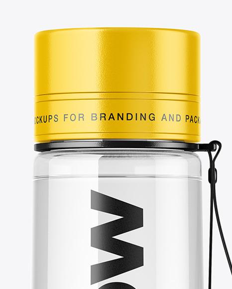 Clear Water Sport Bottle Mockup