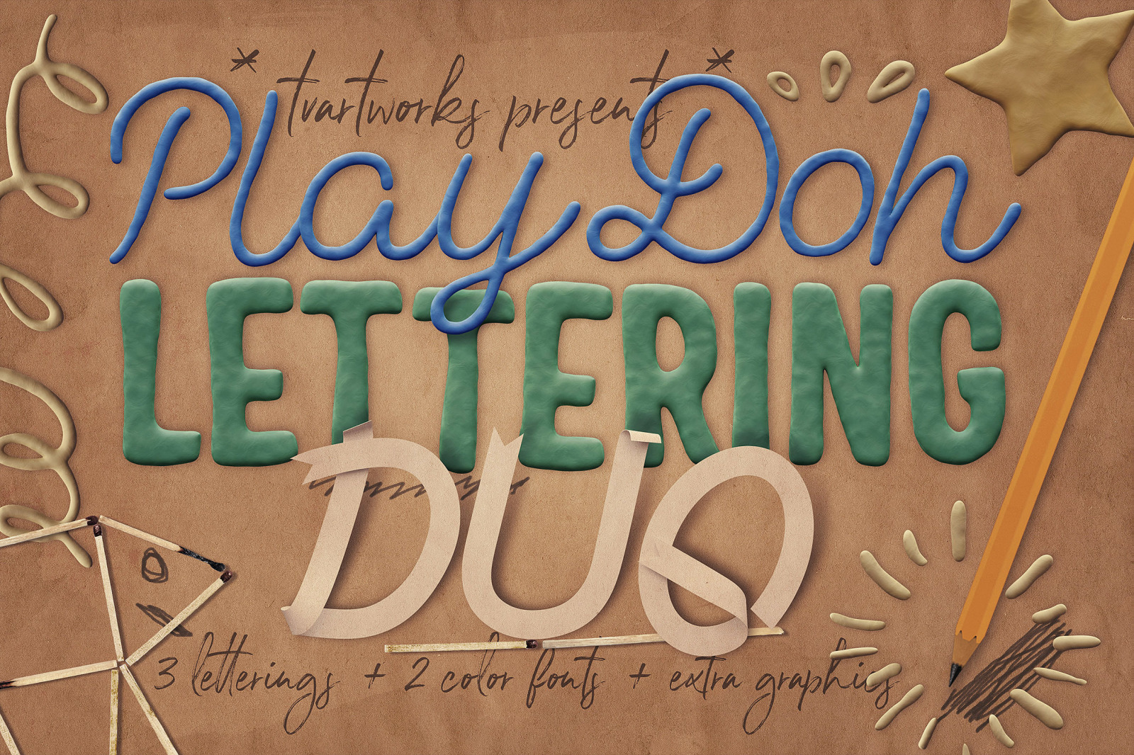 Play-Doh Lettering Duo
