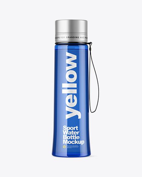 Blue Sport Bottle Mockup In Bottle Mockups On Yellow Images Object