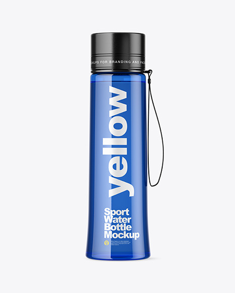 Blue Sport Bottle Mockup