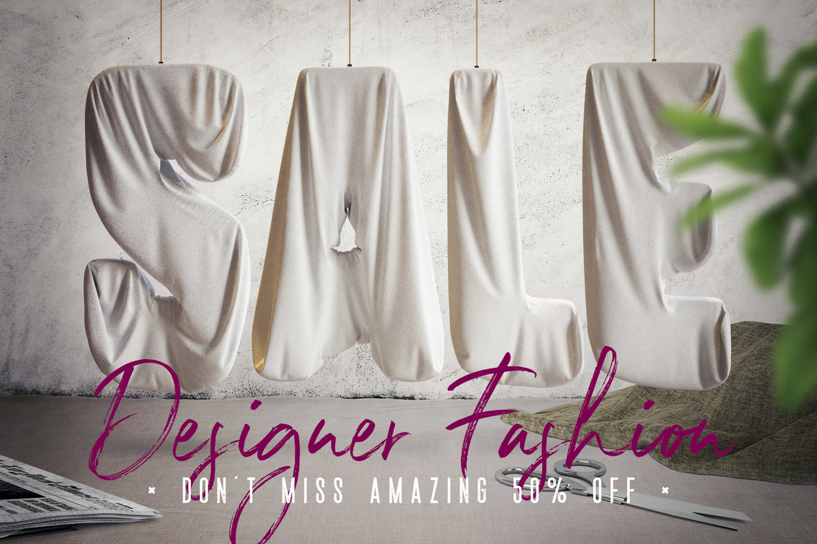Foil & Fabric Lettering Duo