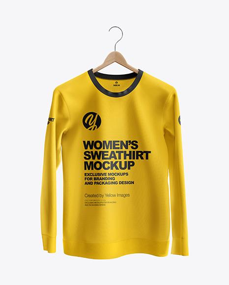 Sweatshirt on Hanger Mockup - Front View