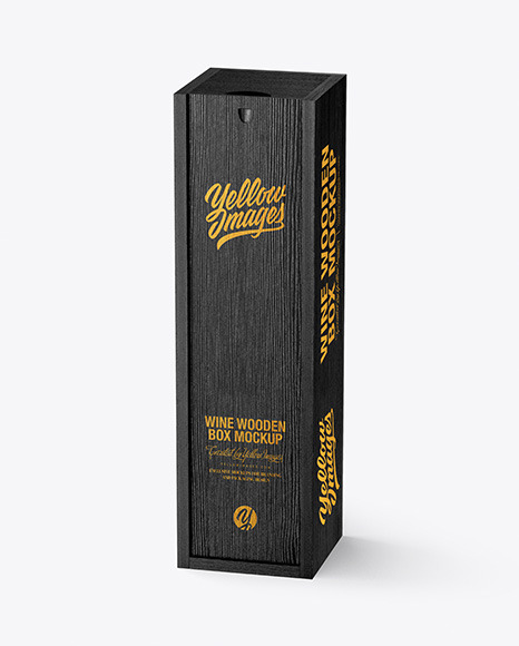 Wooden Wine Box Mockup
