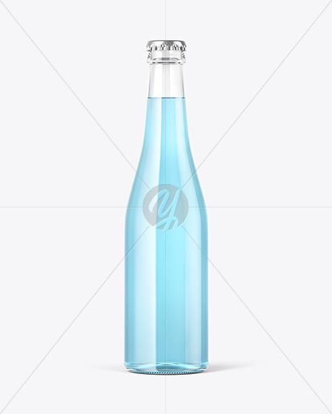 Clear Glass Tonic Bottle Mockup