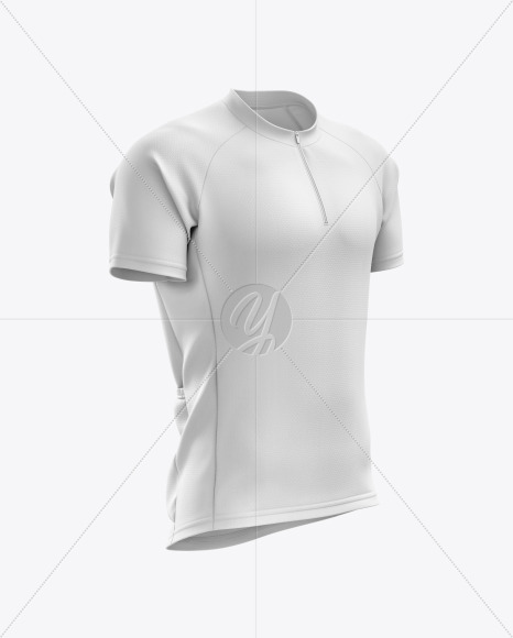 Men's Cross Country Jersey mockup (Right Half Side View)