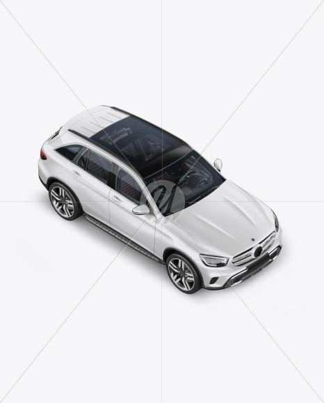 Compact Crossover SUV Mockup - Half Side View (High-Angle Shot) - Yellowimages Mockups