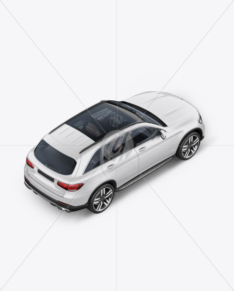 Compact Crossover SUV Mockup - Back Half Side View (High-Angle Shot) - Yellowimages Mockups