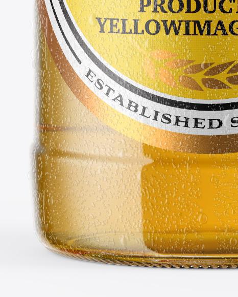 Lager Beer Bottle With Condensation Mockup