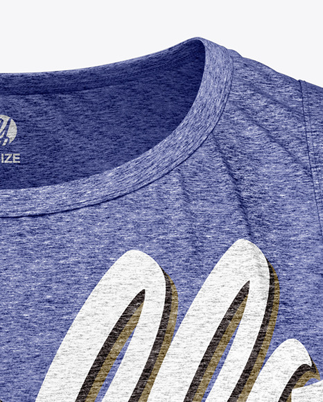 Download Melange Mens Loose Fit Sleeveless Shirt Mockup Yellowimages