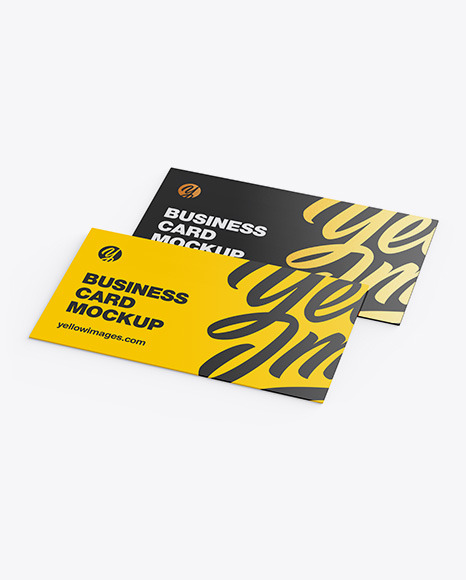 Download Business Cards Mockup In Stationery Mockups On Yellow Images Object Mockups PSD Mockup Templates