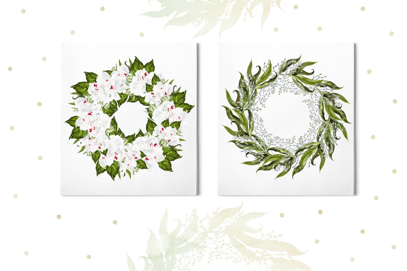 Watercolor Blooming Peony&Hudrangea