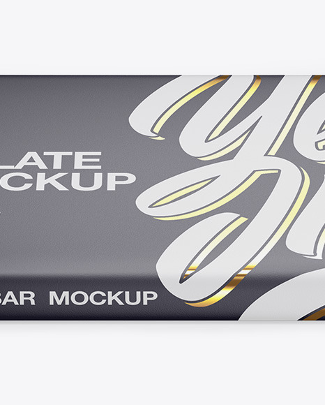 Matte Chocolate Bar Mockup - Front View (High Angle Shot)