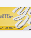 Matte Chocolate Bar Mockup - Front View (High Angle Shot)