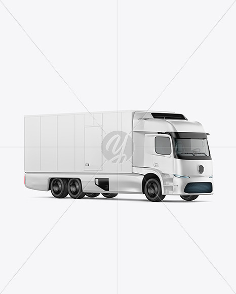 Electric Truck Mockup - Right Half Side View - Yellowimages Mockups