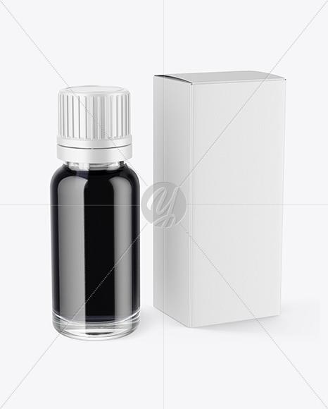 Download Download Dark Liquid Dropper Bottle With Box Mockup Psd Free Download New Mockups PSD Mockup Templates