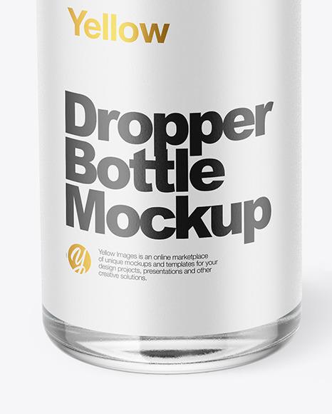 Dark Liquid Dropper Bottle with Box Mockup