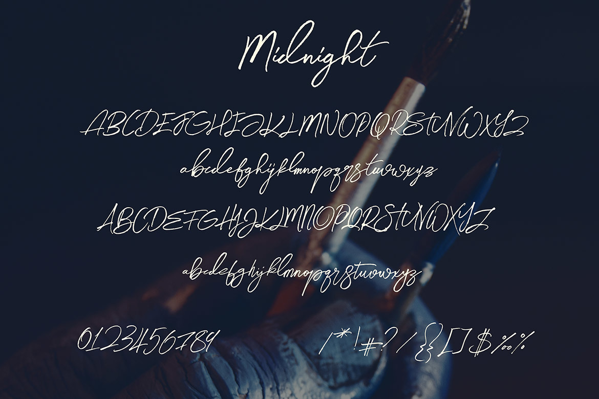Midnight Brush & SVG Font