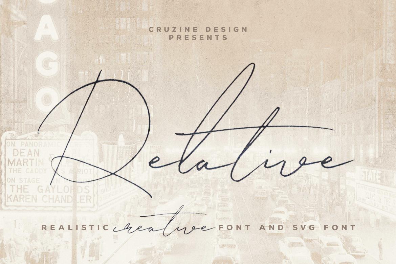 Relative Handwritten & SVG Font