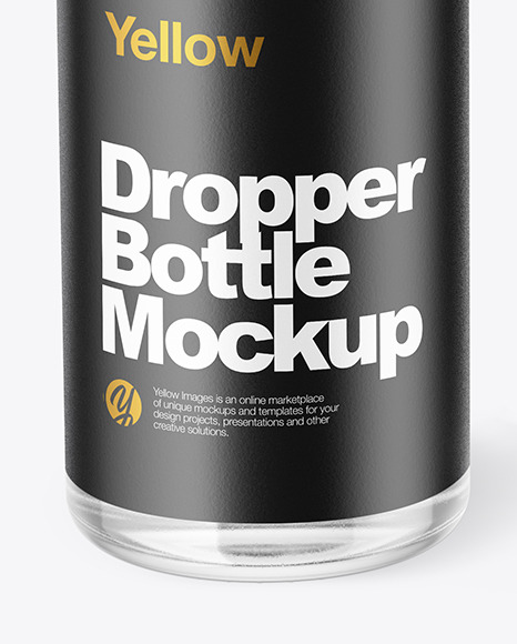 Glass Dropper Bottle with Box Mockup