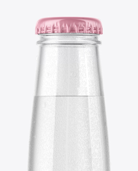 Glass Water Bottle With Condensation Mockup