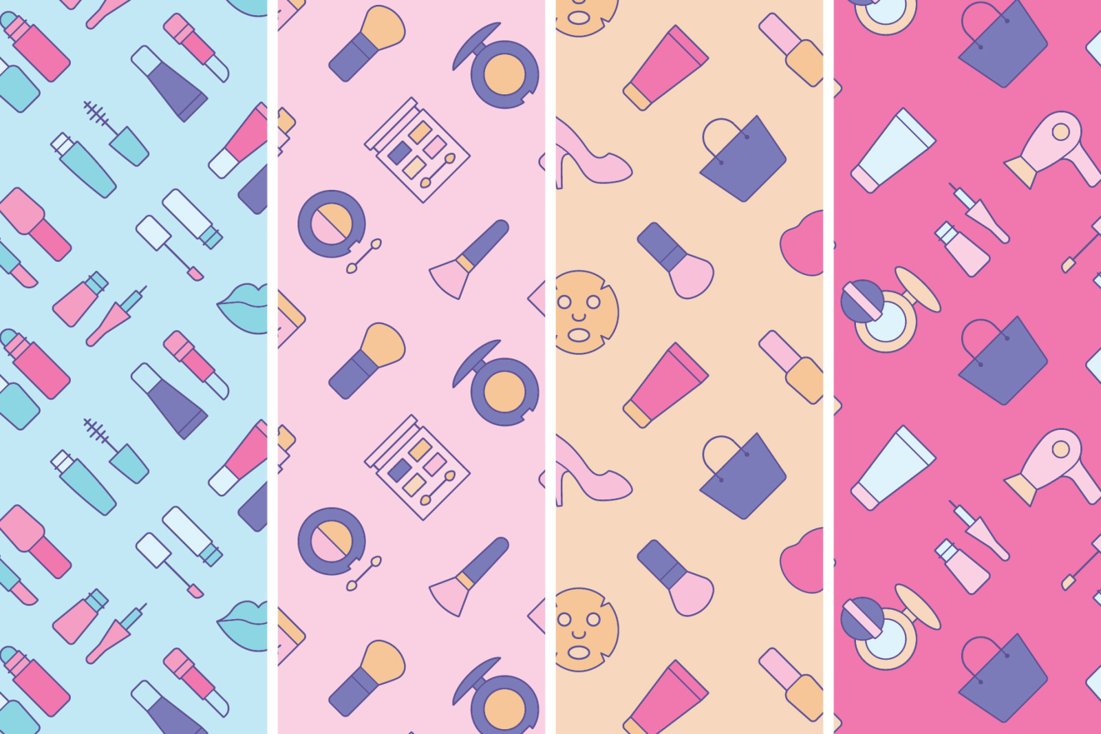 Cosmetics Seamless Patterns