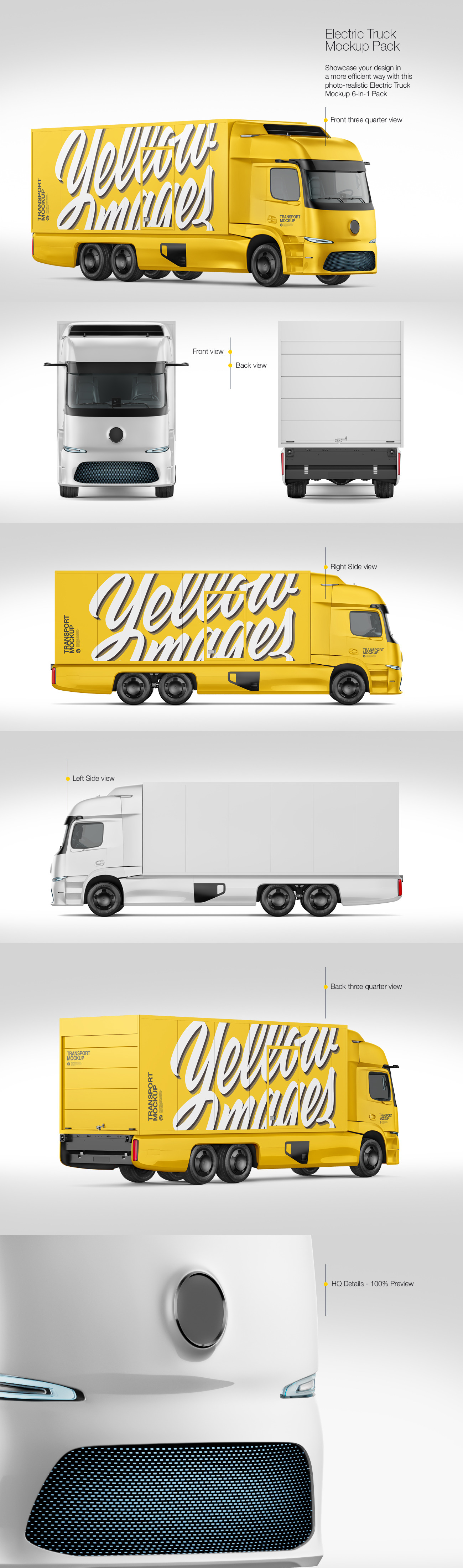 Electric Truck Mockup Pack