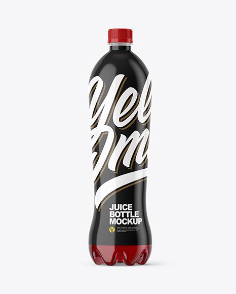 1,5L Cherry Juice Bottle Mockup