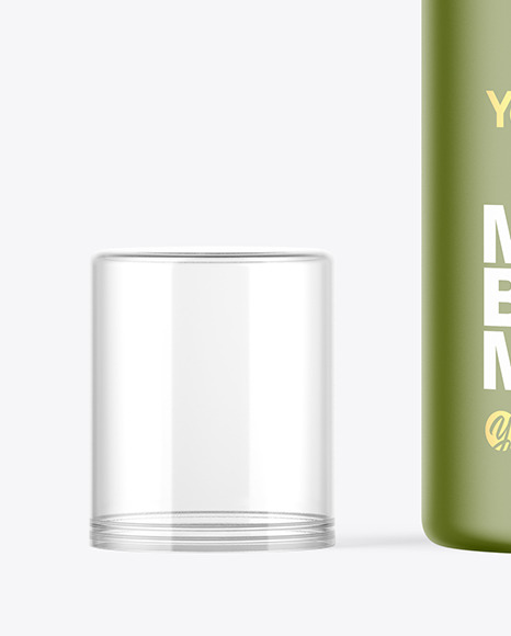 Matte Cosmetic Pump Bottle Mockup