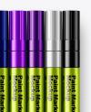 Metallic Marker Pens Mockup